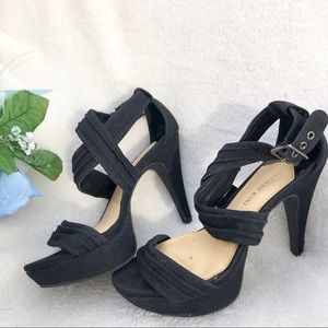 GIANNI BINI Black Dressy High heels 7.5 platform